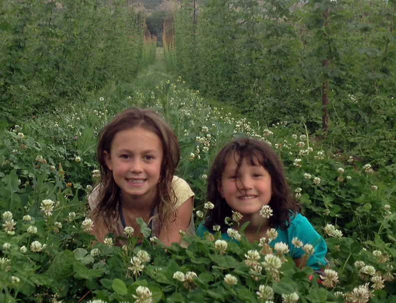 Kids at High Wire Hops Farm